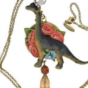 Lenora Dame Necklace Dinosaur Whimsical Crystals
